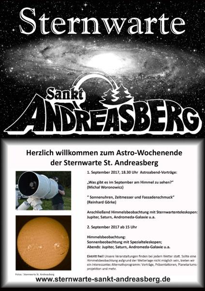 Astrowochenende Sternwarte Sankt Andreasberg