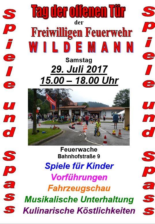 Tag der offenen Tür Feuerwehr Wildemann