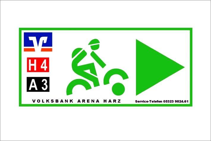 Beschilderung Volksbank Arena Harz