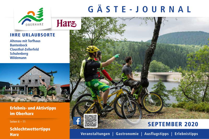 Titelseite Gästejournal Oberharz September