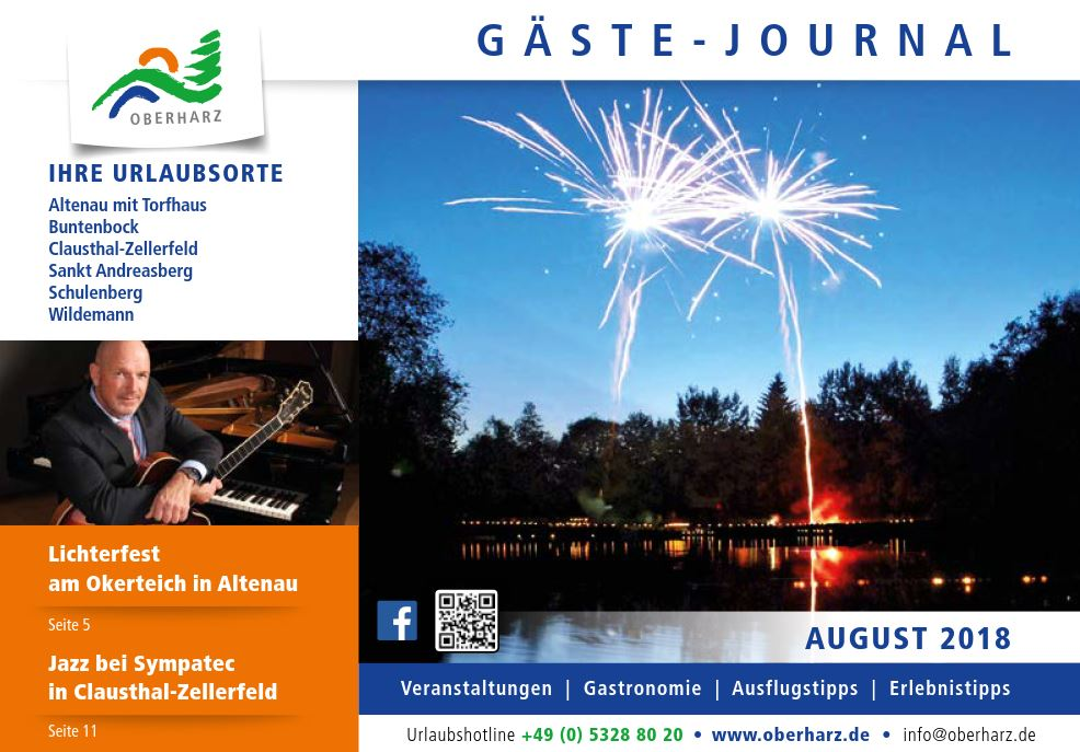 Gästejournal Oberharz August 2018