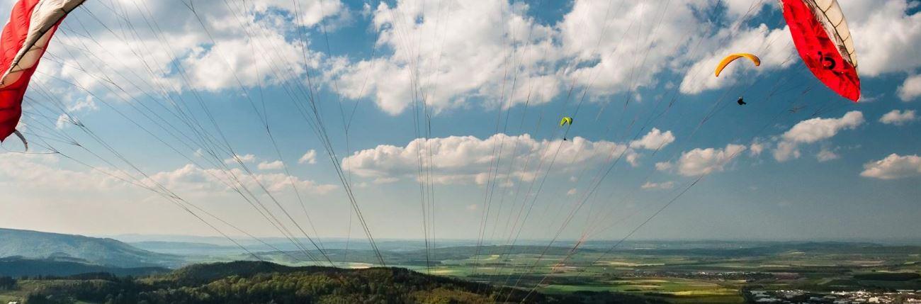 Gleitschirmfliegen im Harz