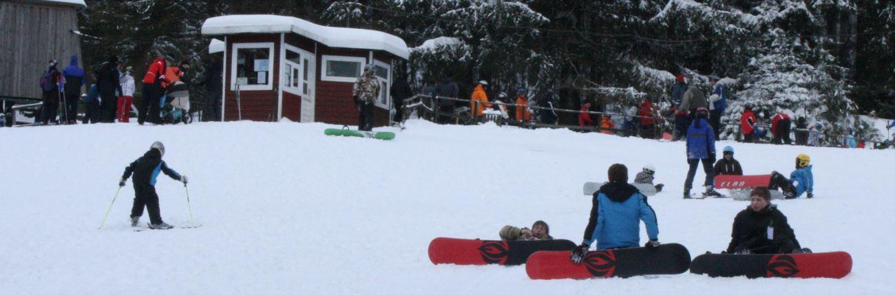 Snowboarden im Harz