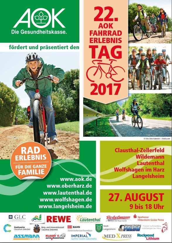 AOK Fahrraderlebnistag Oberharz 2017