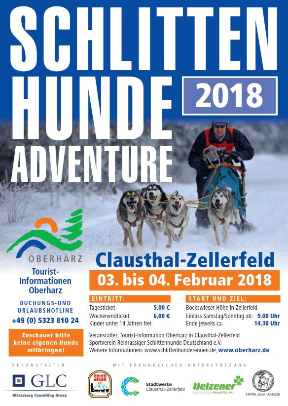 Schlittenhunde Adventure 2018 in Claustahl-Zellerfeld
